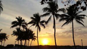 Vista de la playa de Miami