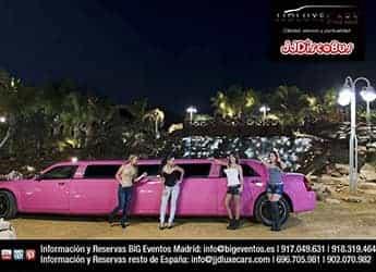 Limusina Chrysler Rosa imagen 1