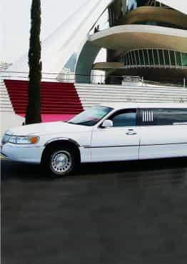 Limusina Lincoln Blanca