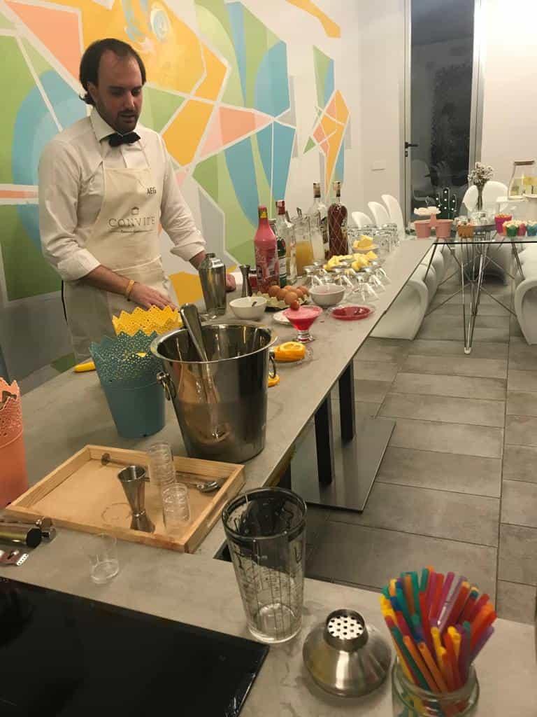 Curso de cocteleria + buffet