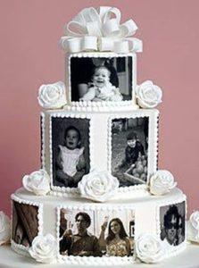 tarta con recuerdos