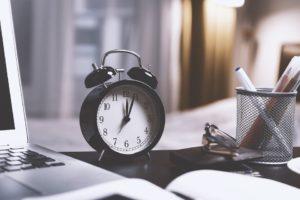 tiempo para organizar despedida